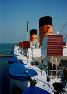 Lifeboats on the Queen Mary