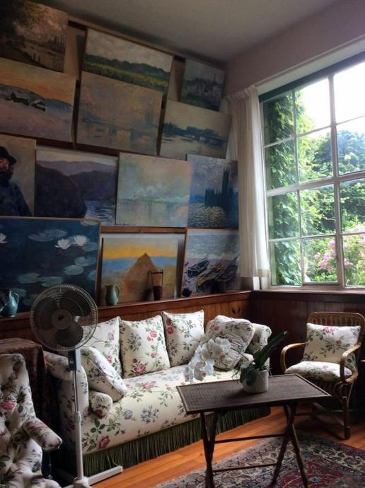 June 3, 2017 Claude Monet study in home Giverny