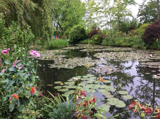 The lily pond at Monet's home