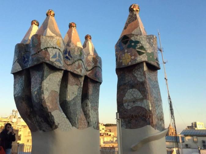 Gaudi building in Spain