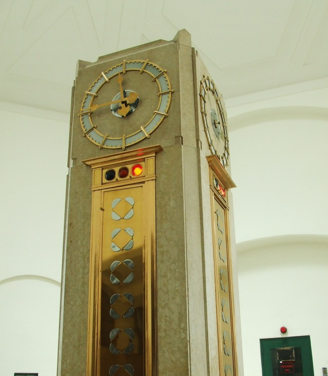 Clock close-up at R.C. Harris